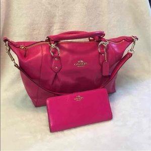 Coach NWT Genuine Leather Handbag Set